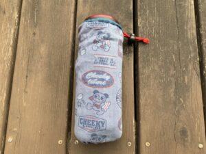 古着の袖を使った簡単リメイクペットボトル(魔法瓶)ホルダー