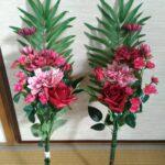 お墓に飾る造花のアレンジメント5