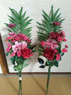 お墓に飾る造花のアレンジメント2