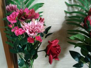 お墓に飾る造花のアレンジメント4
